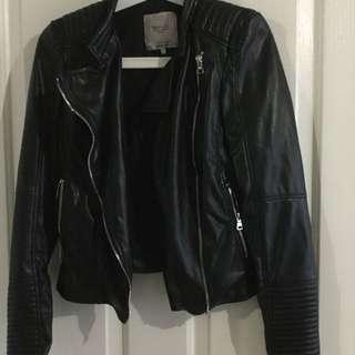 ZARA Black Leather Jacket