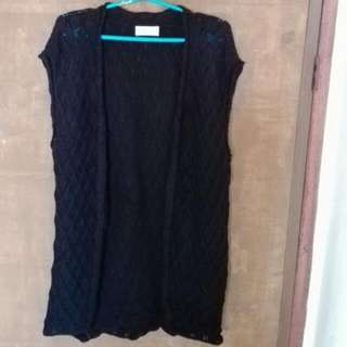 Black Knitted Giordano Vest/Top