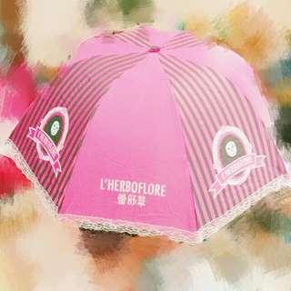🚚 《送》桃紅小洋傘☔摺疊傘🌂雨傘