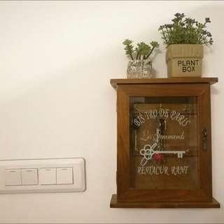 💯實拍照💪🏼讓鑰匙隱藏起來的鑰匙櫃🌟木質鑰匙盒壁掛地中海牆飾家居收納鑰匙箱鑰匙架掛鈎創意壁飾