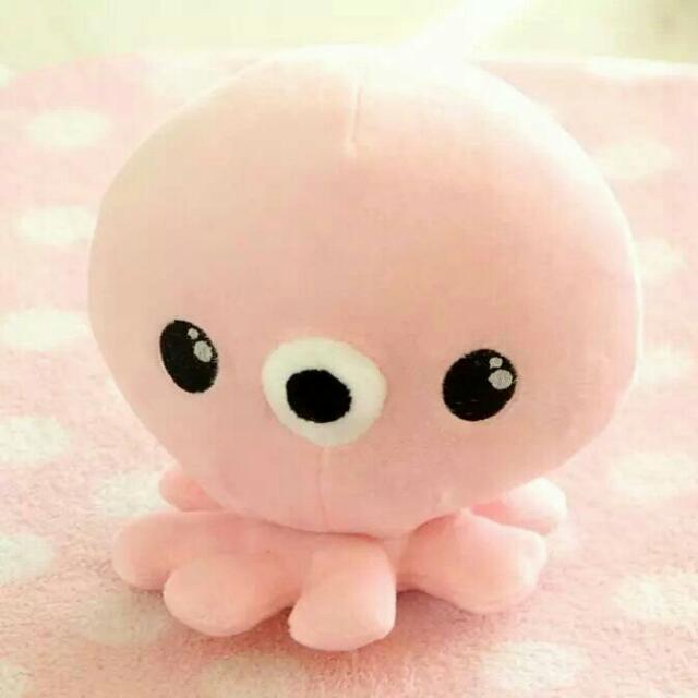 韓劇藍色大海的傳說全智賢同款粉色章魚玩偶八爪魚毛绒玩偶-20cm