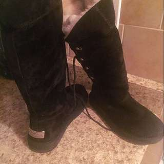 Authentic Ugg Fur Lined Tall Boots