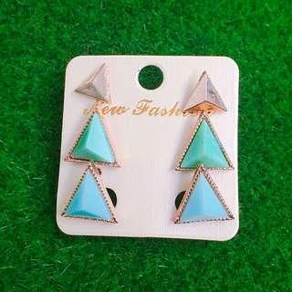 💫現貨 三角立體幾何 耳環