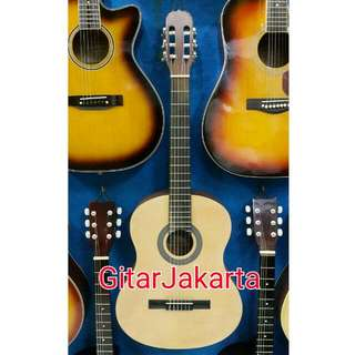 Gitar Classic Natural Senar Nylon Merk Shelby Murah Jakarta