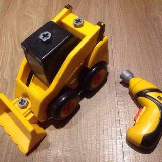 Cat電動螺絲起子 組裝玩具車