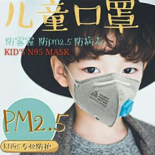 (2pc)N95 kids mask/anti-fog & haze PM2.5