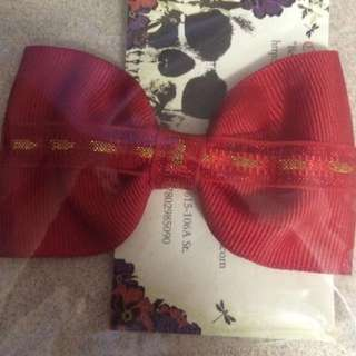 Red & Gold Bow