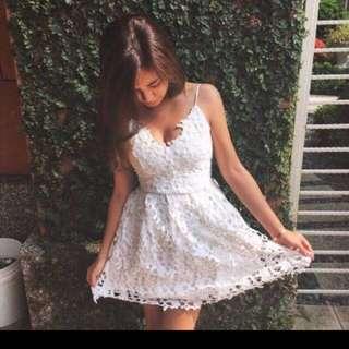 全新 Scrappykoko 白色洋裝