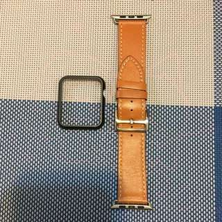 ⚡️Free Watch Case x1 ⚡️😱100%New Apple Watch Band 牛皮錶帶 42mm  🍎 Watch Leather Band 牛皮錶帶
