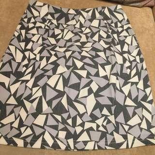幾何方塊 短裙