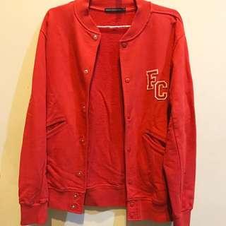FCUK Original Red Baseball Jacket Size S