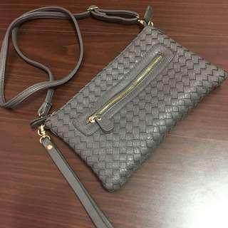 韓國購入編織2用手拿肩背包
