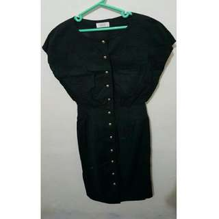 Vintage Dress Warna Hitam