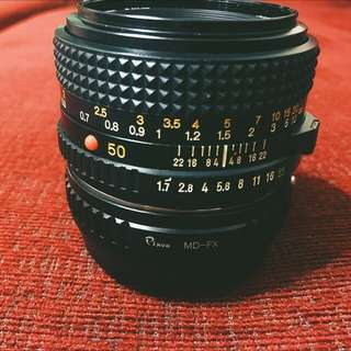 (for FUJIFILM) Minolta MD 50mm F1.7 Lens
