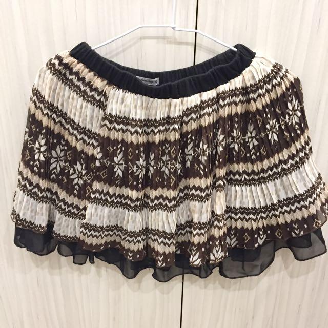 冰晶圖騰雪紡百褶裙 #兩百元雪紡