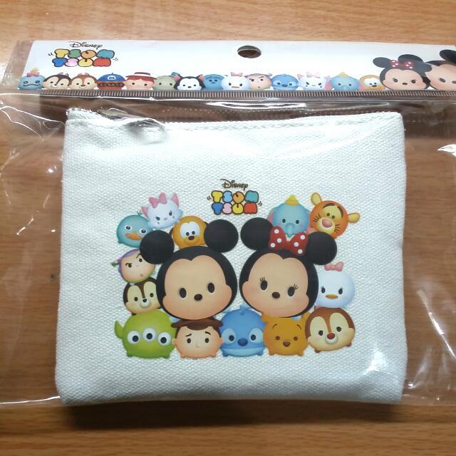【正版】迪士尼帆布方形零錢包
