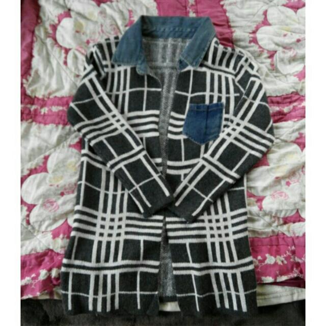 (含運)格紋針織外套