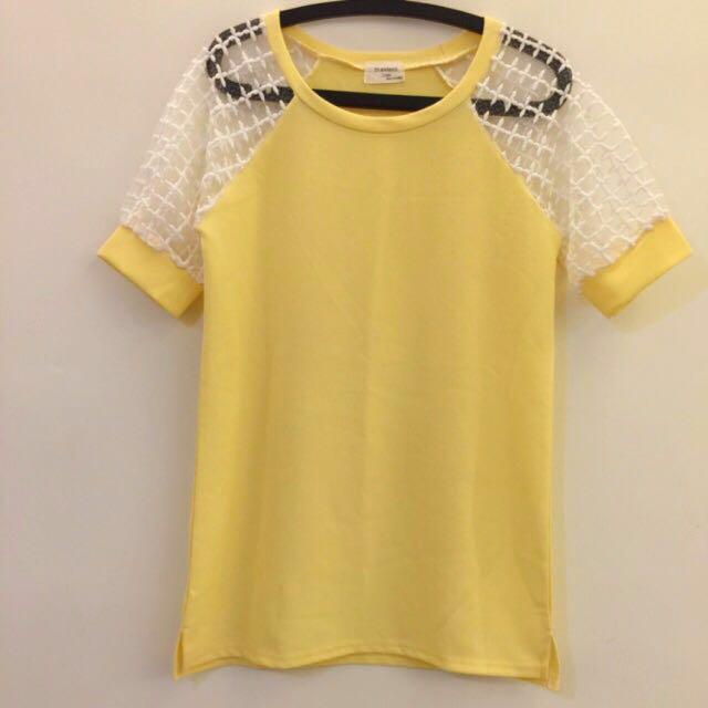 黃色紗網袖子