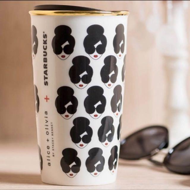 星巴克 Starbucks x Alice and Olivia 聯名 限量 AO肖像馬克杯 雙層 全品項現貨 馬克杯 不鏽鋼杯 瓶