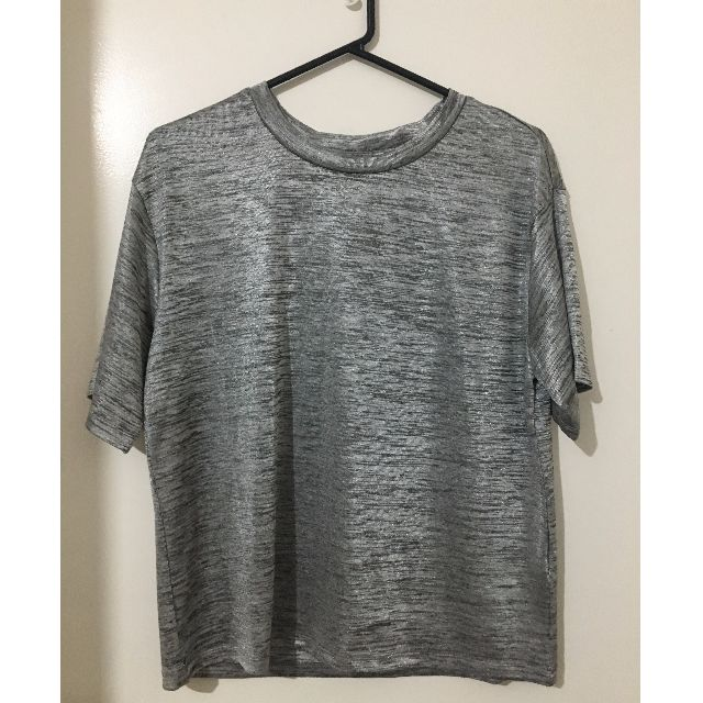 Bardot silver metallic T-shirt
