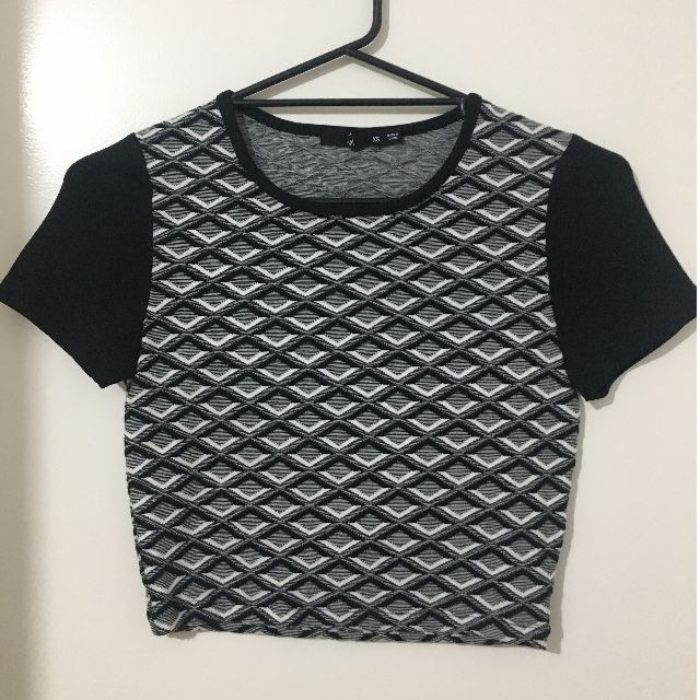 Black, Grey and White Sportsgirl T-shirt