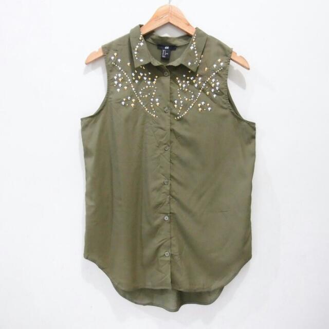 Blus H&M Seaweed Green
