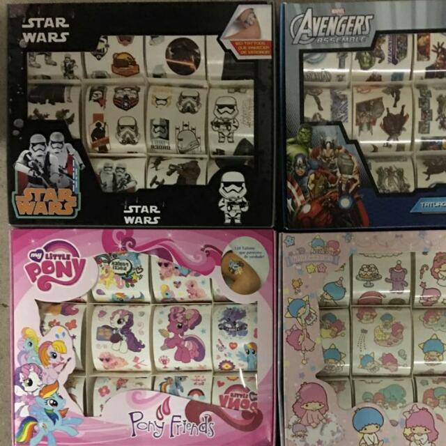 Brand New In Box Tattoo For Children 120pc