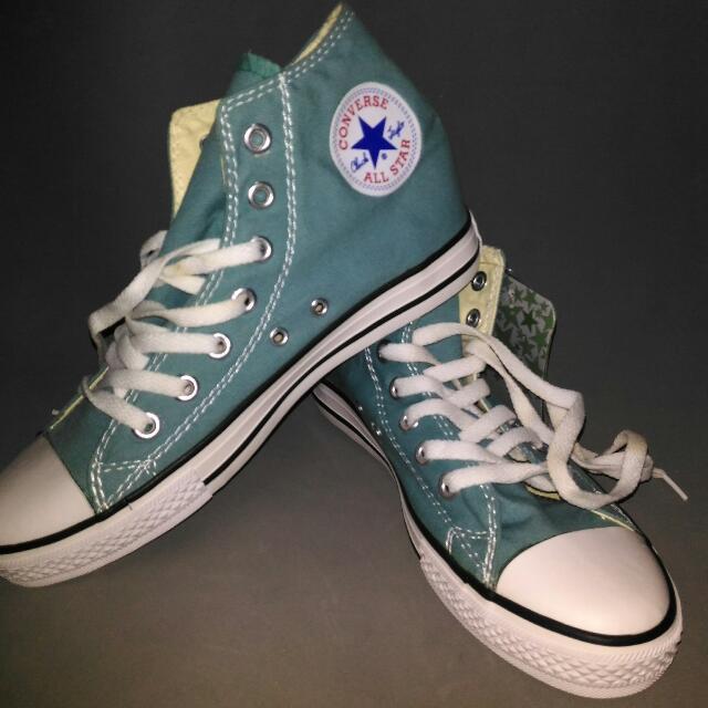 converse high cut green
