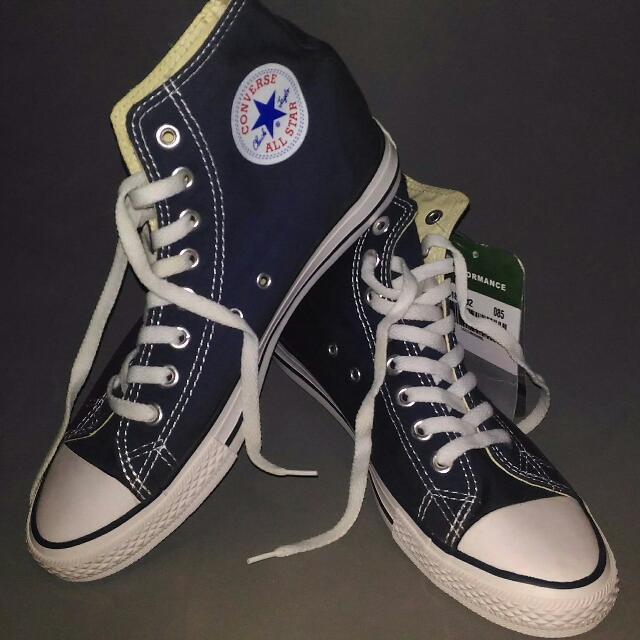converse high cut navy blue