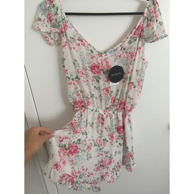 Cotton On Floral playsuit