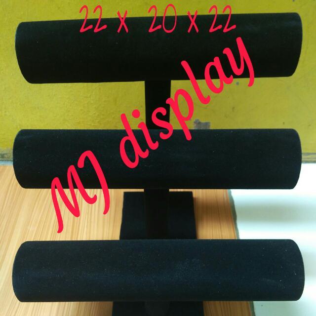 Display gelang 3susun hitam