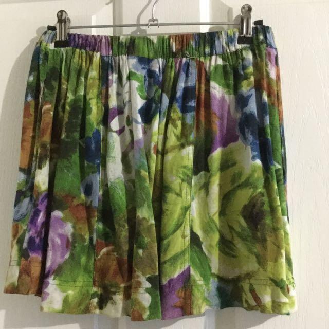 Floral Swing Skirt