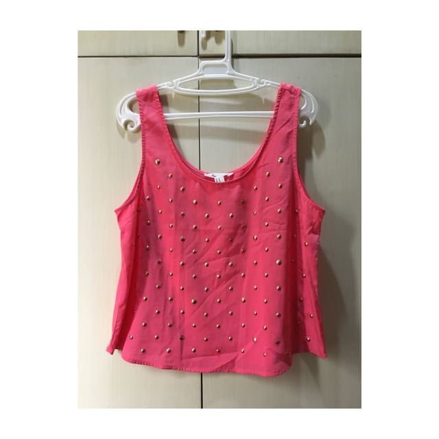 Forever 21 Pink Studded Top