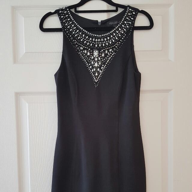 Make an Offer! Forever New Black Embellished Dress Size 8