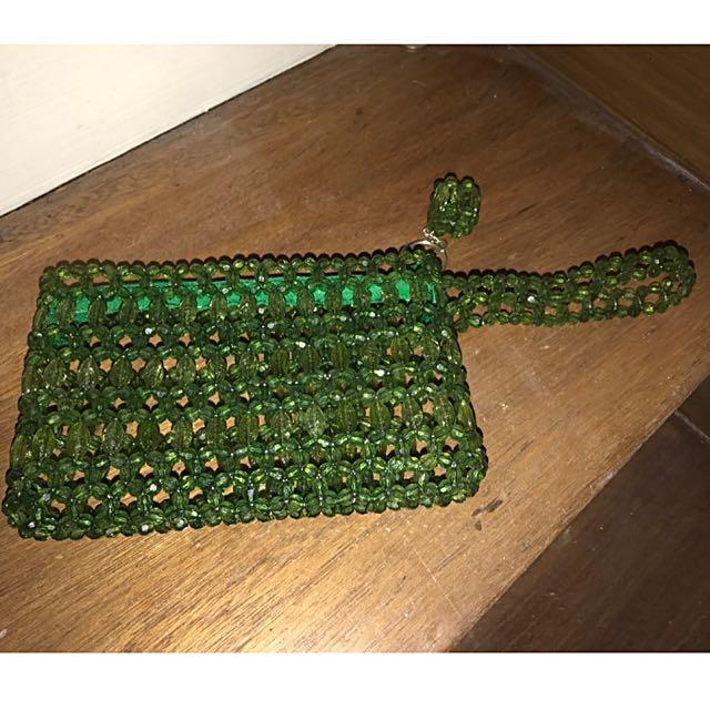 Hand Made Wallet Made Of Crystals