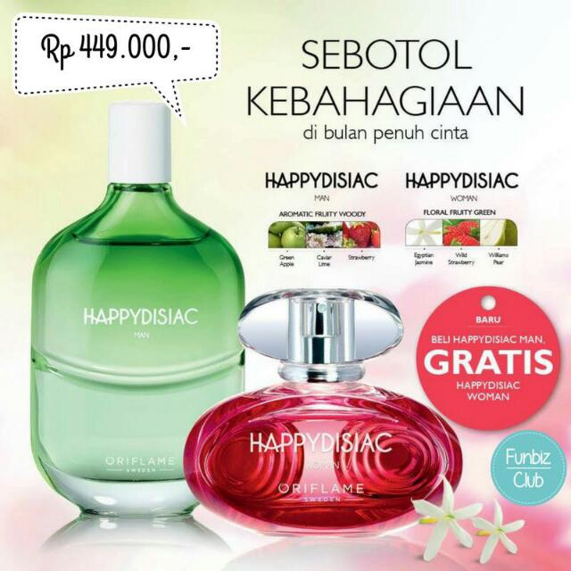 HAPPYDISIAC BUY 1 GET 1 FREE PARFUME COUPLE