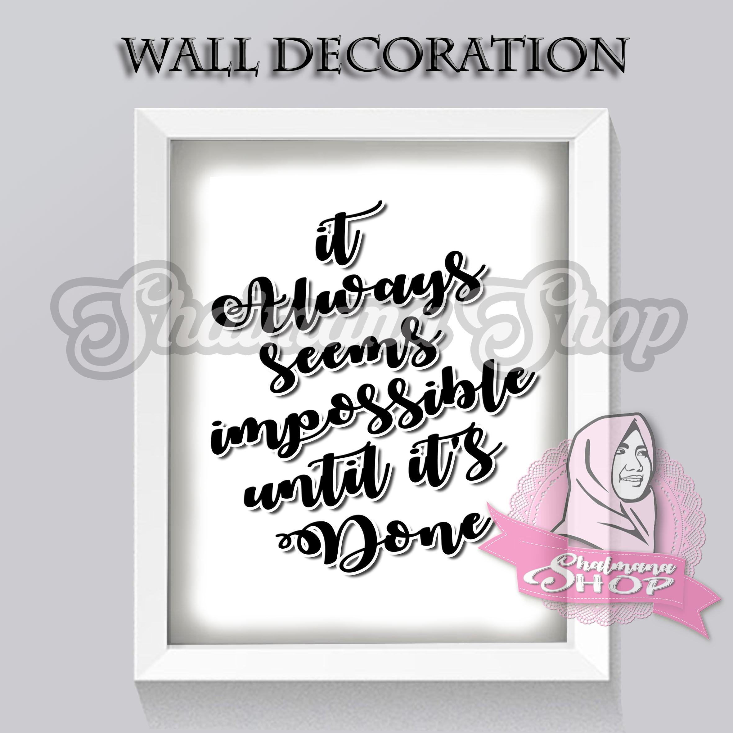 Hiasan Dinding Wall Decoration Wall Art Bunga Poster Tumbler Desain