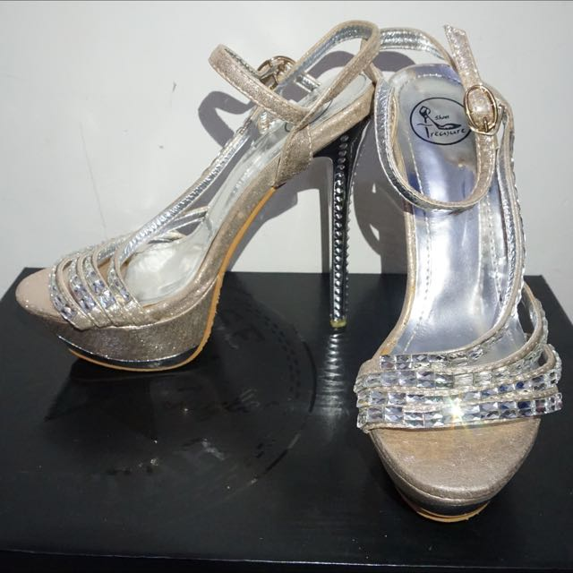 High Heels Silver And Gold
