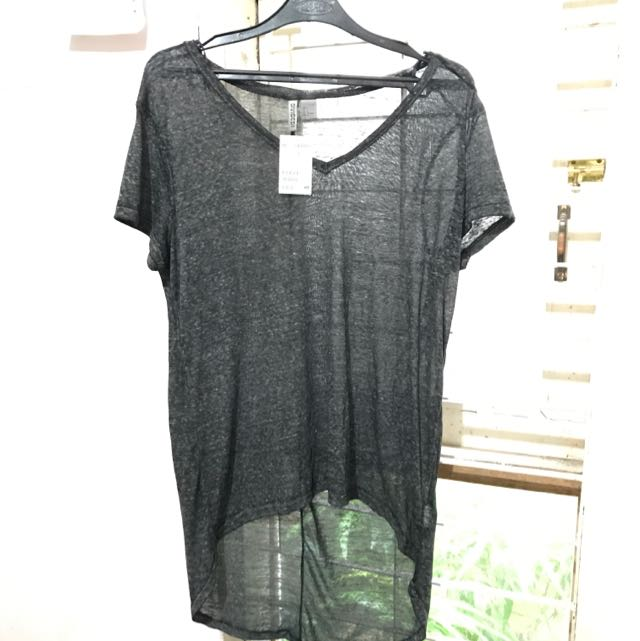 H&M Grey Long T-shirt
