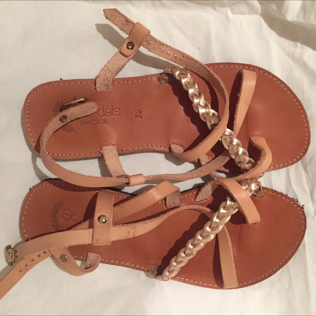 Leather Sandals Size 38