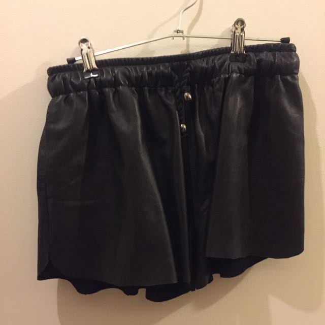 Leather Shorts (100% Genuine Leather) Size 10
