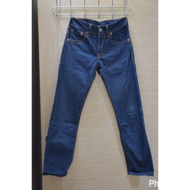 Levi's 513 丹寧直筒牛仔褲W29 L32
