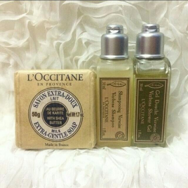 L'OCCITANE MINIATURE (30ml Set Of Shampoo, Showe Gel & Soap)