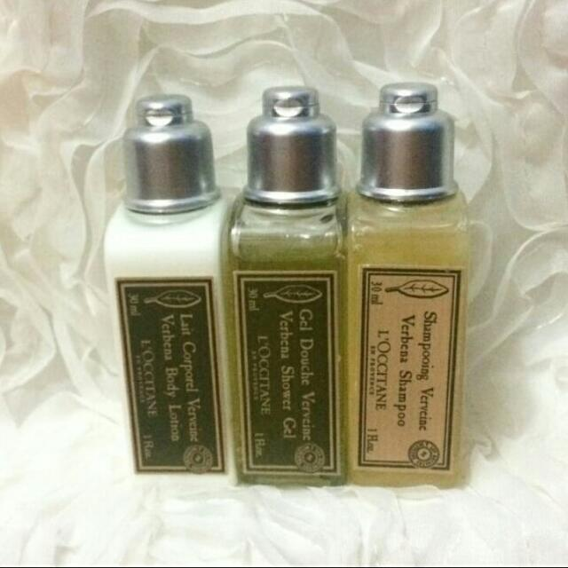 L'OCCITANE MINIATURE (30ml Set Of Shampoo, Shower Gel & Lotion)