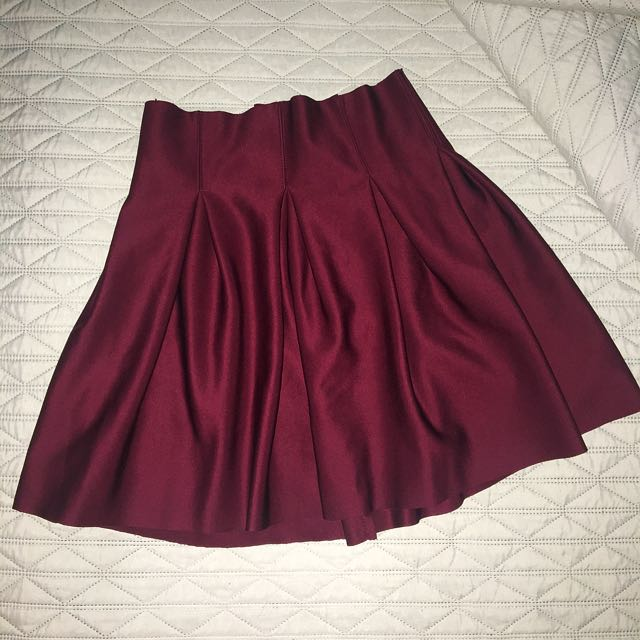 Maroon Neoprene Skirt