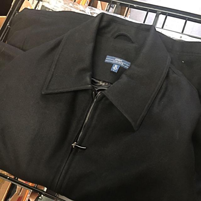 Mens wool Melton jacket