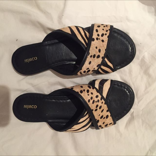 Mimco Leather Sandals Size 38