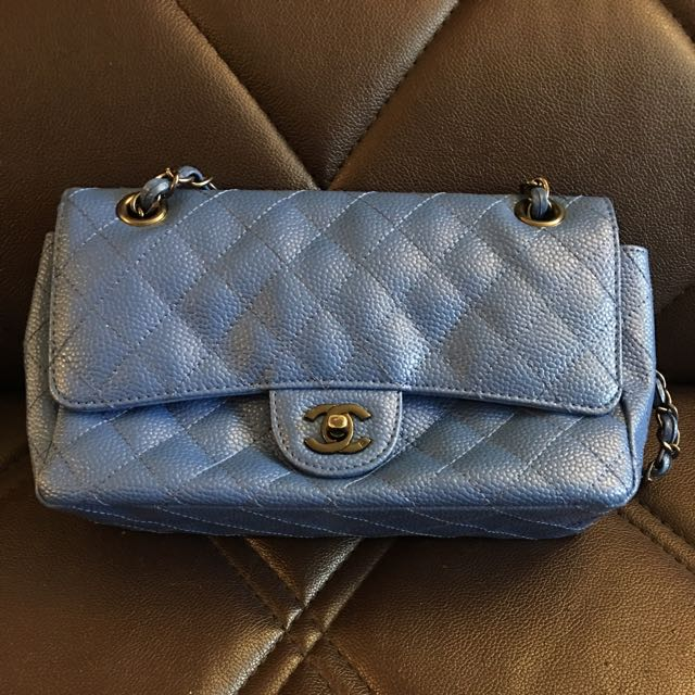 Navy Blue Chanel Crossed Body Clutch