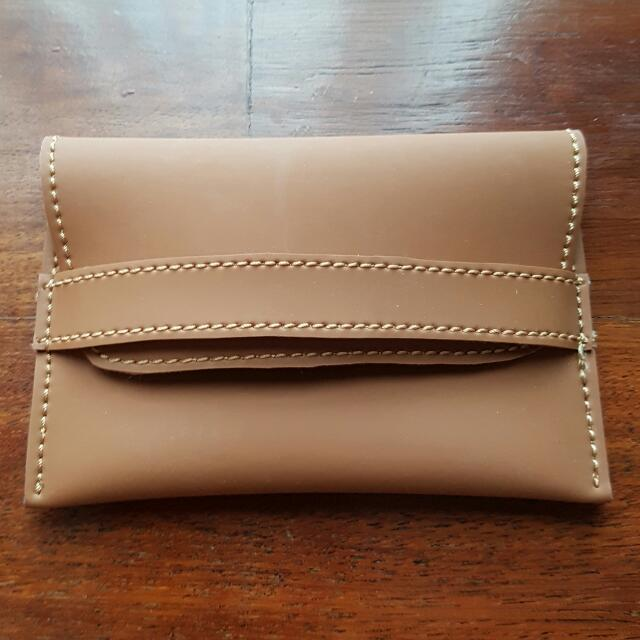 New Simple Wallet In Brown Size 15cmx10cm