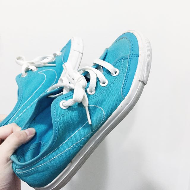 Nike帆布鞋 藍